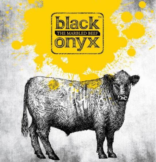 black onyx carne con marmoleo