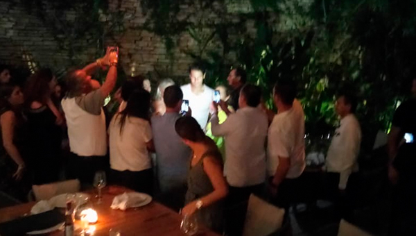Rafael Nadal en Harry's restaurante