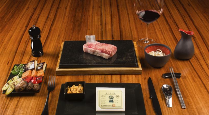 vinos y carne kobe