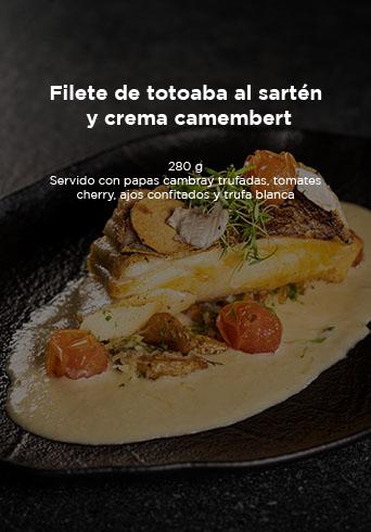 Filete De Totoaba Al Sartén Y Crema Camembert Mesa De Trabajo 1