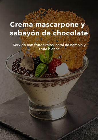 Crema Mascarpone Y Sabayขn De Chocolate Harrys